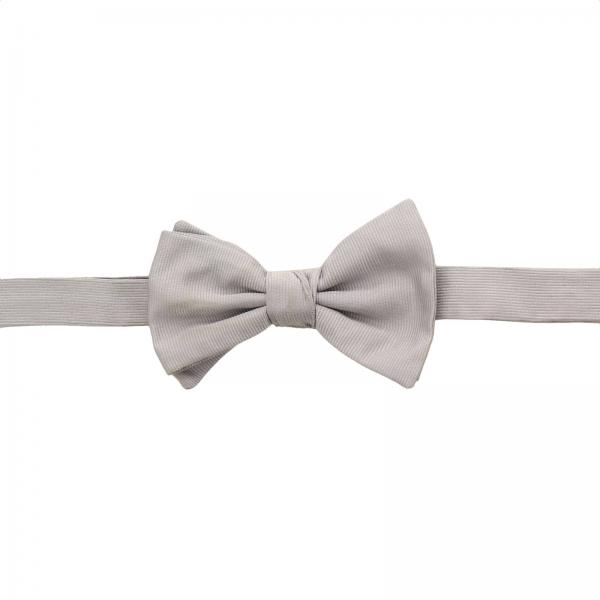 Giorgio Armani bow tie with butterfly in micro-striped silk