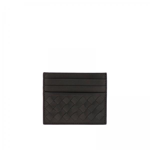 Porte-cartes de crédit Bottega Veneta en cuir tressé