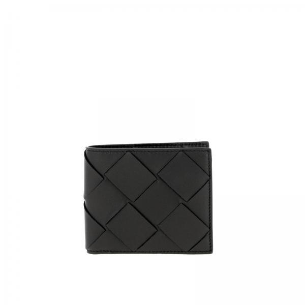 Portefeuille en livret  Classique horizontal classique en cuir avec maxi tressage