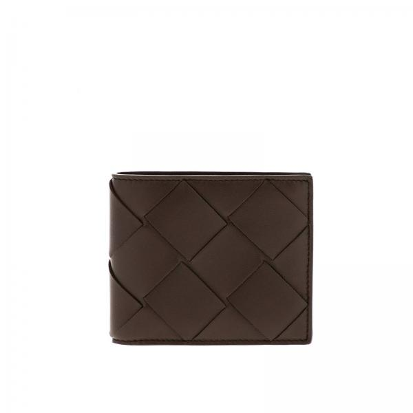 Classic wallet in maxi woven leather