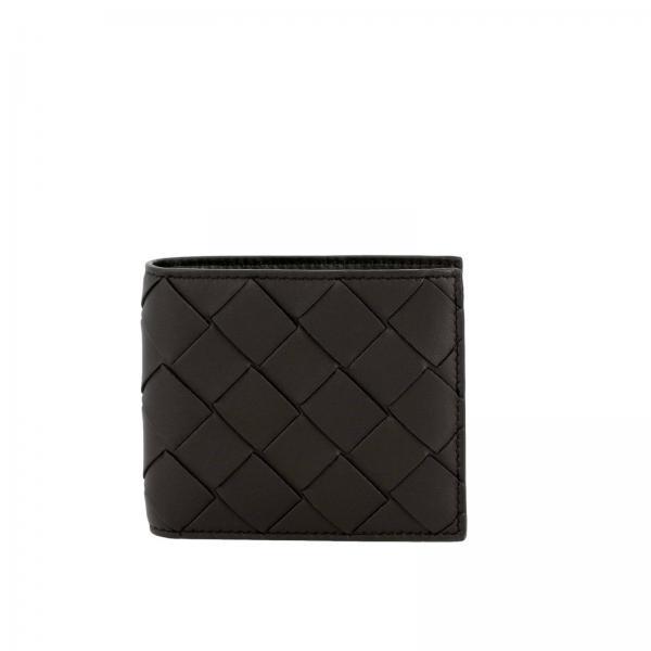 Bottega Veneta classic wallet in maxi woven leather