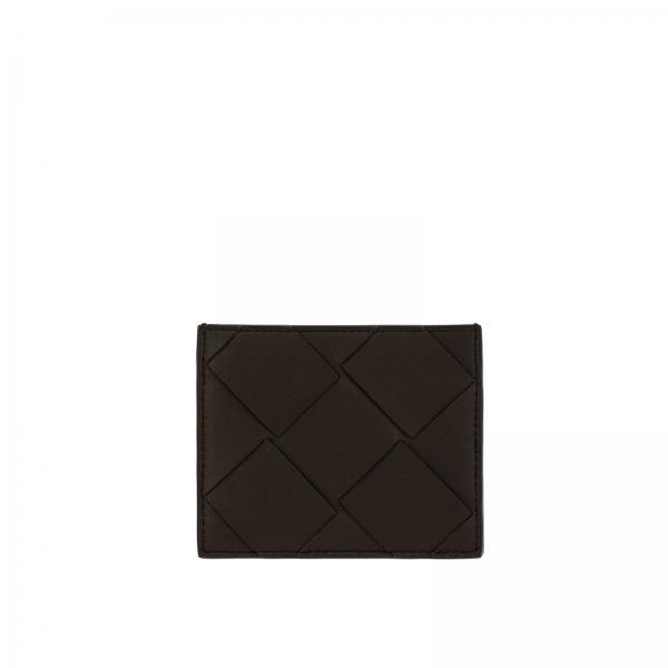 Porta carte di credito Bottega Veneta in pelle maxi intrecciata
