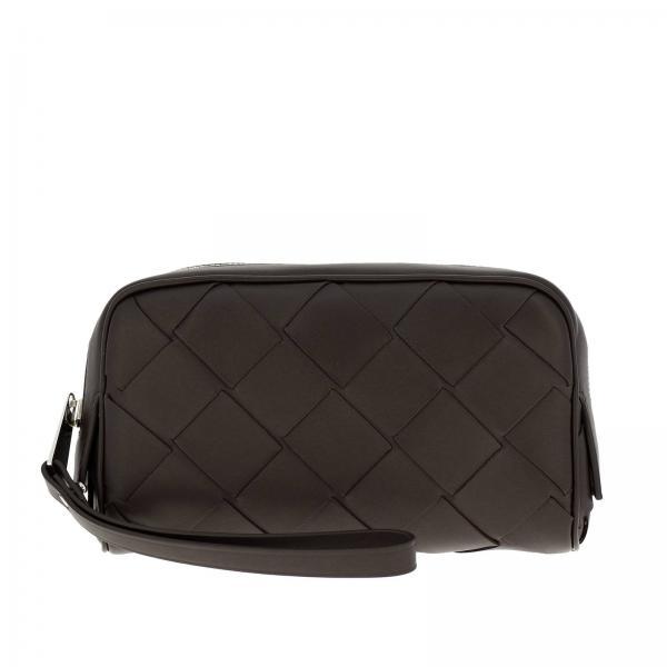 Bottega Veneta Beauty Case aus gewebtem Maxi-Leder