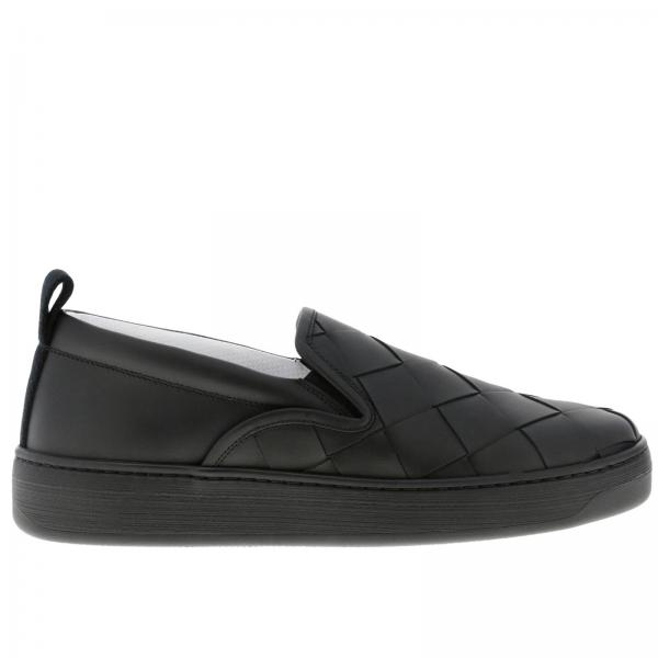 Bottega Veneta slip on sneakers in real smooth leather with maxi woven processing