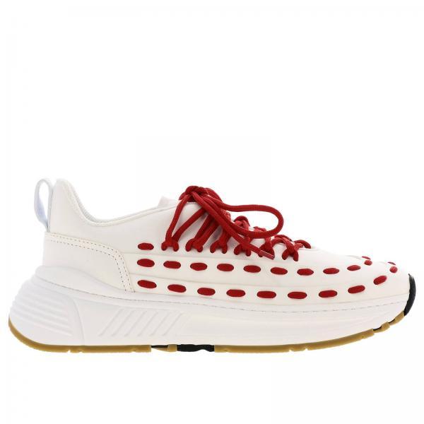 Bottega Veneta鞋带交叉皮革运动鞋