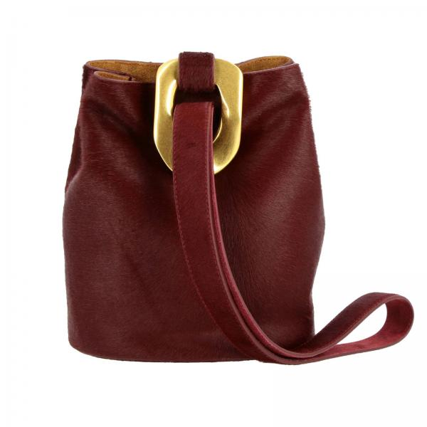 Bottega Veneta bucket bag in calf hair with maxi metal hook