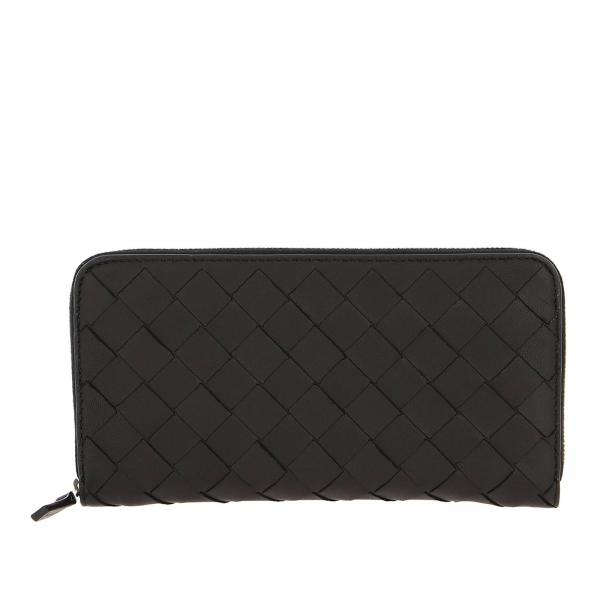 Bottega Veneta Continental zip around woven leather wallet