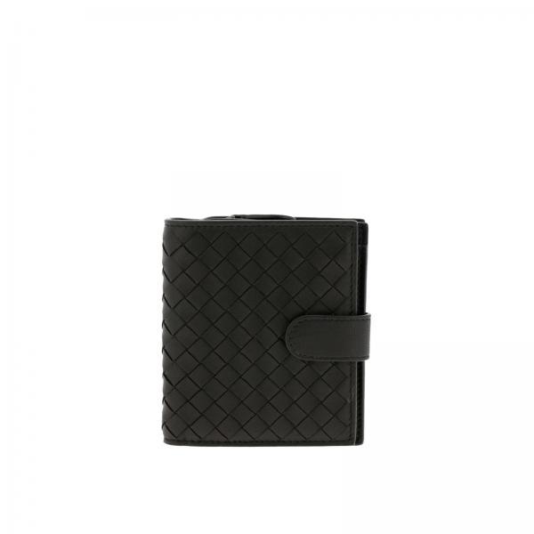 Bottega Veneta wallet in woven leather with zip