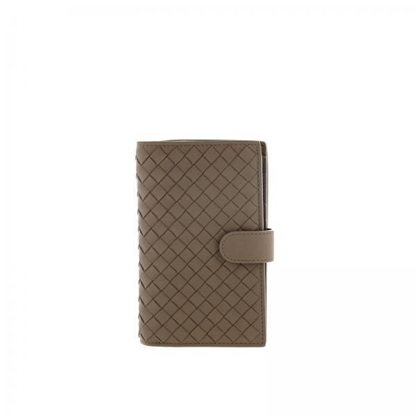 Bottega Veneta wallet in mini woven leather with zip
