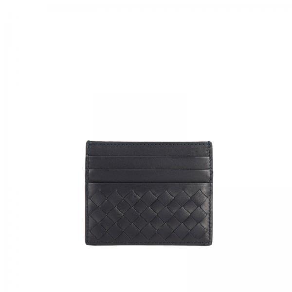 Bottega Veneta credit card holder in woven leather