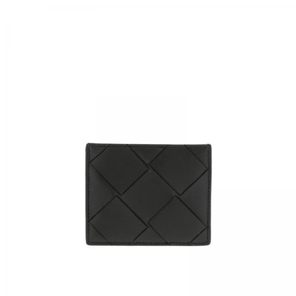 Bottega Veneta credit card holder in woven maxi leather