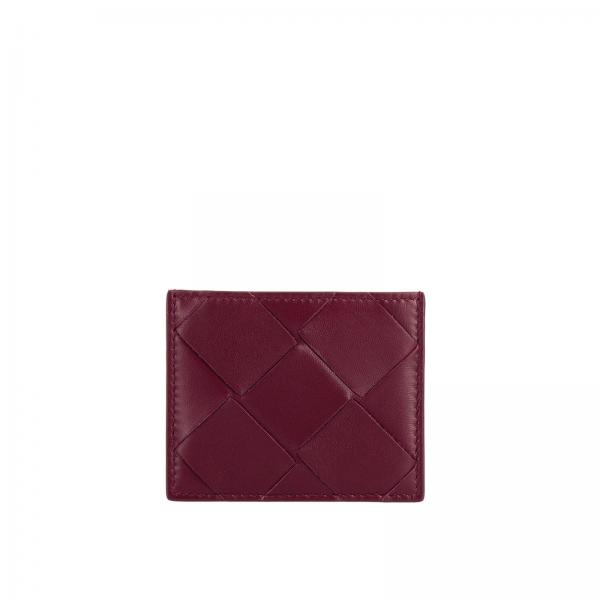 Bottega Veneta credit card holder in woven maxi leather