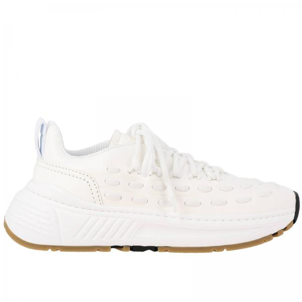 Bottega Veneta leather sneakers with criss cross