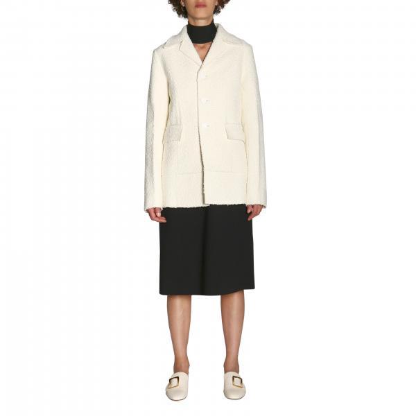 Bottega Veneta 结子绒面料单排单扣外套