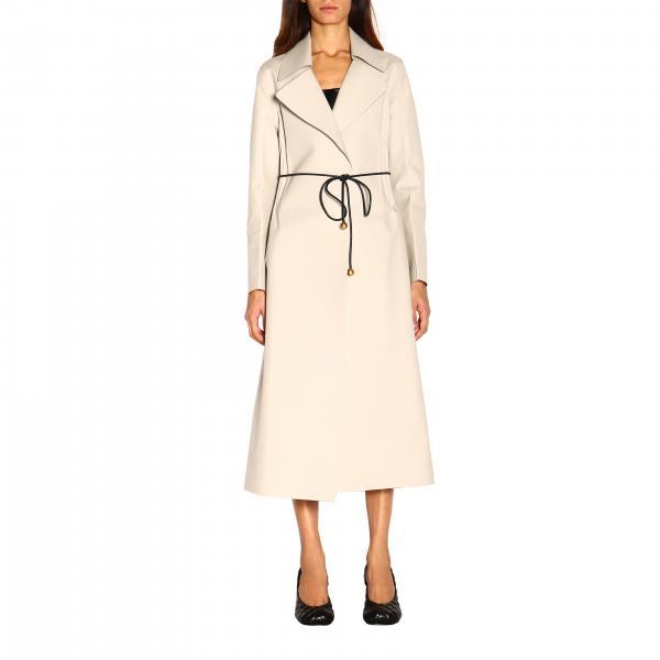 Bottega Veneta 配腰带防水华达呢大衣