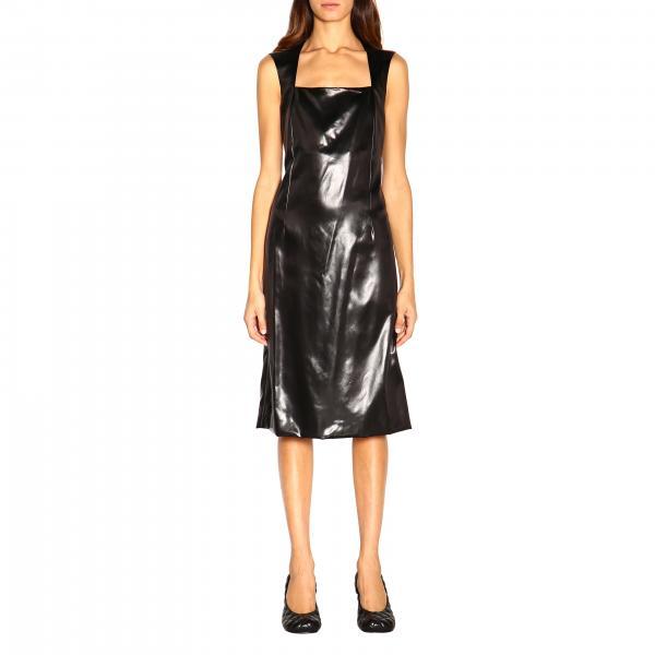 Bottega Veneta ärmelloses Kleid mit Madonna Ausschnitt