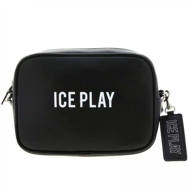 Borsa Ice Play Camera bag a tracolla in pelle sintetica con stampa logo