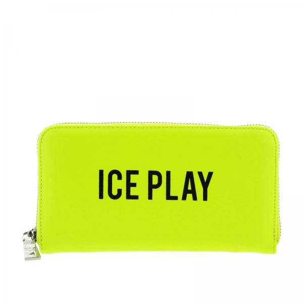 Portafoglio Ice Play continentale zip around in pelle sintetica con stampa logo
