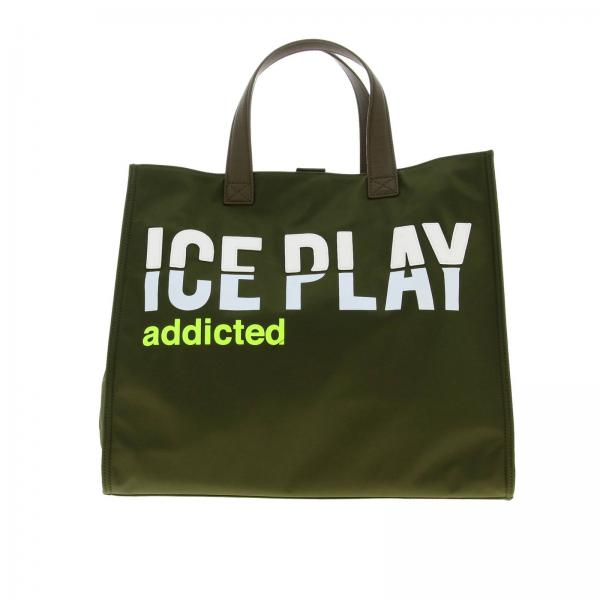 Borsa Ice Play Shopping bag in nylon con logo