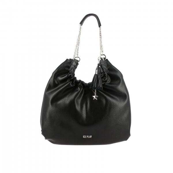 Borsa Ice Play Hobo bag in pelle sintetica con logo