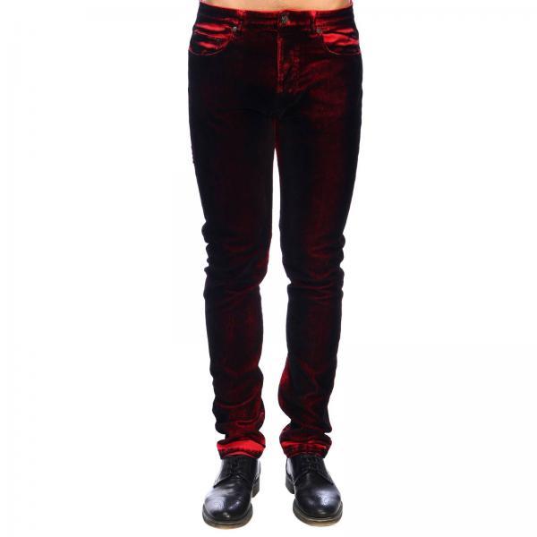 Pantalone N° 21 a 5 tasche in floccato con effetto sfumato