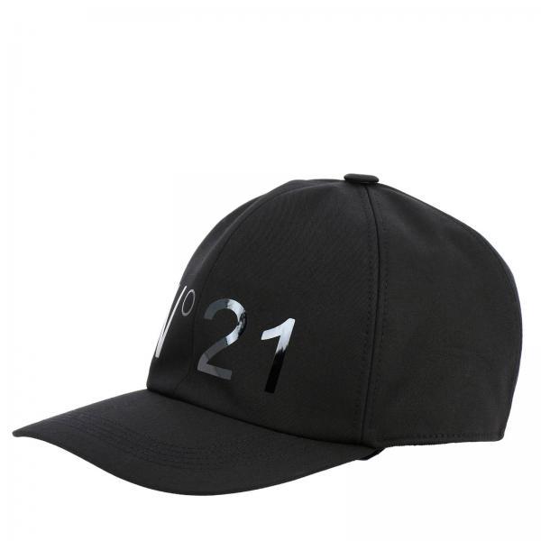 Cappello da baseball N° 21 in cotone con stampa logo