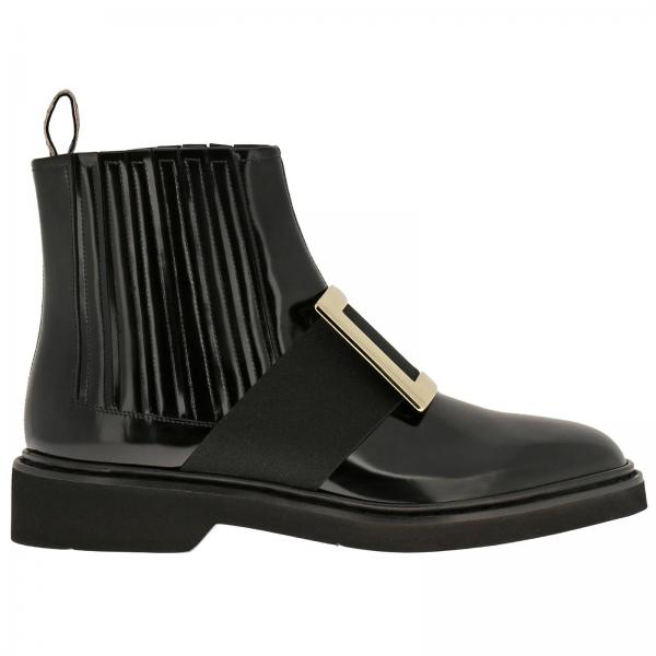 Stivaletto Tres Roger Vivier metal buckle in pelle