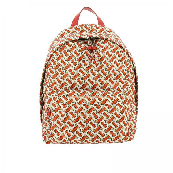 Large nylon backpack with all-over TB Burberry print