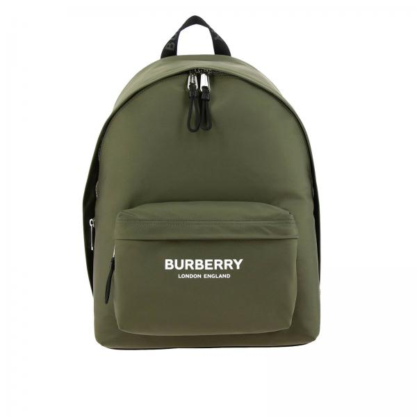 Large nylon backpack with Burberry maxi print