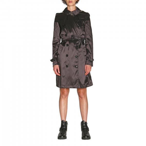 Trench Kensington coat Burberry medio in nylon impermeabile con cintura