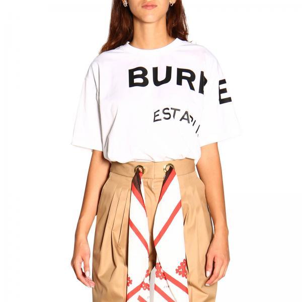T-shirt con maxi logo Burberry
