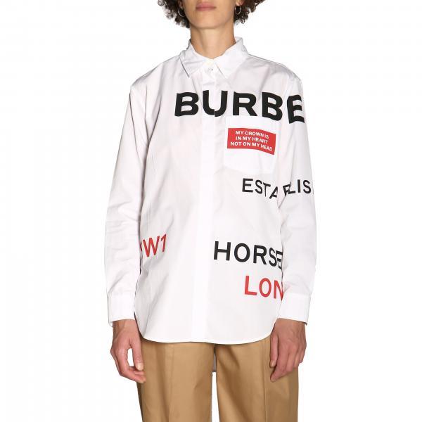 Camicia Godwit in cotone con stampa Burberry