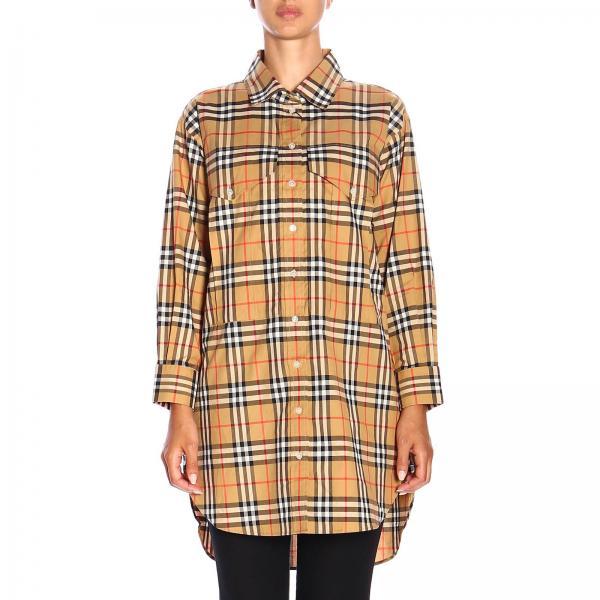 Camicia Redwing in cotone check Burberry lunga
