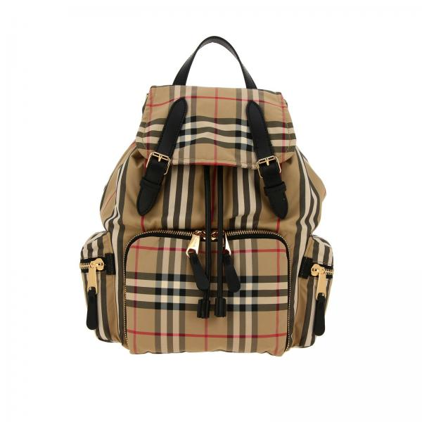 design senza tempo 096e3 9eaa3 Zaino rucksack medio in nylon check classic burberry full zip