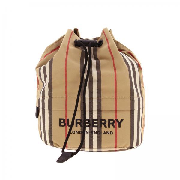 Burberry Donna Spalla Phoebe In 8015051 Nylon A Check BeigeSecchiello Borsa hsrCdtQ