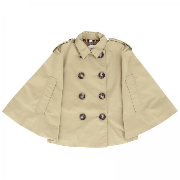 Zweireihiger Burberry-Trenchcoat mit Karodetails