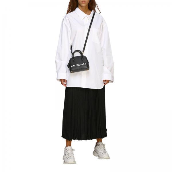 Donna Balenciaga Xxs 550646 Borsa In Mini Maxi 0otnm NeroVille Pelle Con Stampa Vera DYE29eWHI