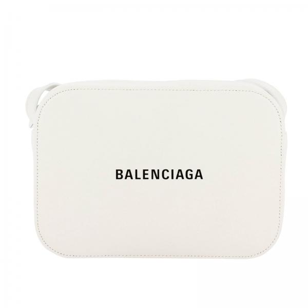 Everyday camera bag S bolso de cuero con estampado Balenciaga