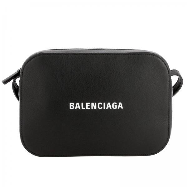 Borsa Everyday camera bag S in pelle con stampa Balenciaga