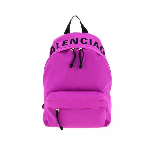 Zaino Wheel Balenciaga in nylon con logo