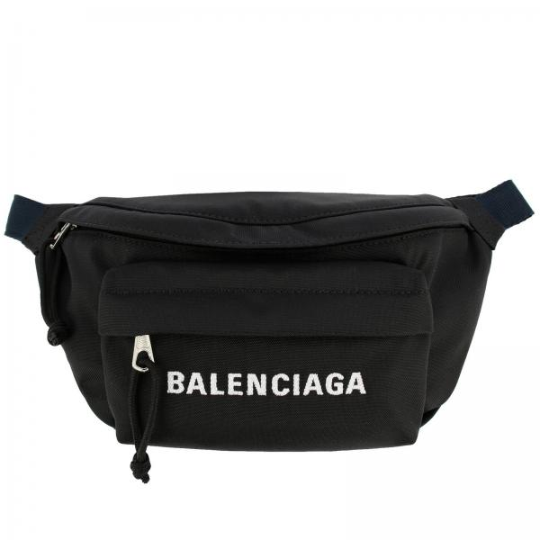 Marsupio Wheel Balenciaga in nylon con logo