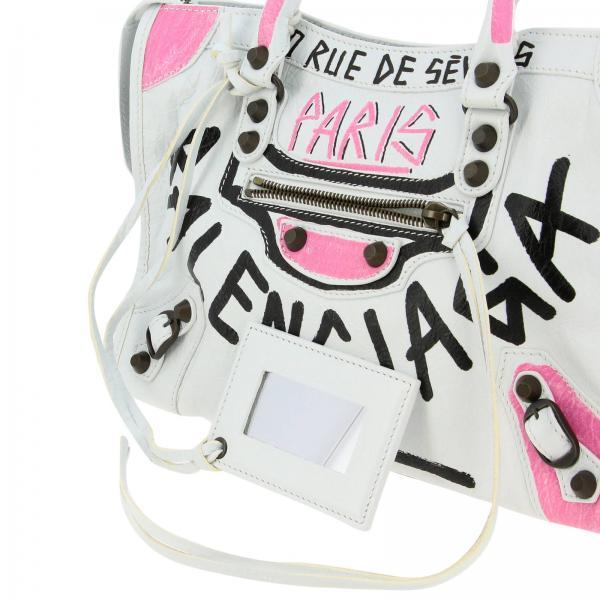 Vera S In NeroCity Pelle Mano Balenciaga Graffiti Multicolor 0feit Borsa Con 431621 A Donna OkiuPXZ