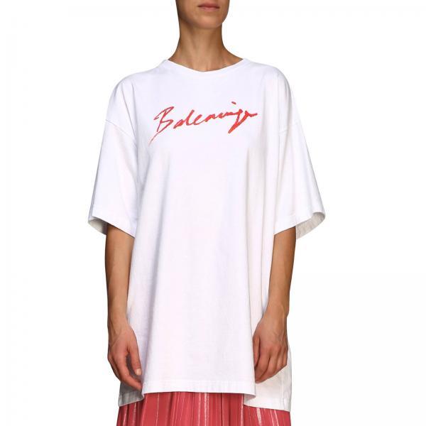 T-shirt Balenciaga a girocollo over con maxi logo
