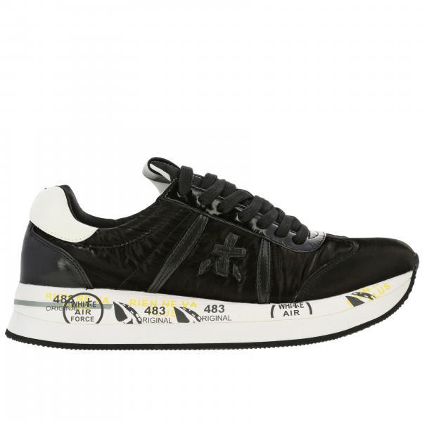 Sneakers Conny Premiata in nylon lucido e pelle