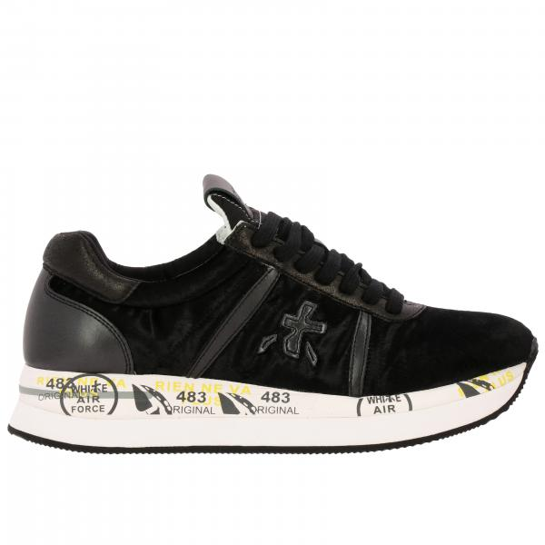 Premiata Conny Sneakers in Samt und Leder