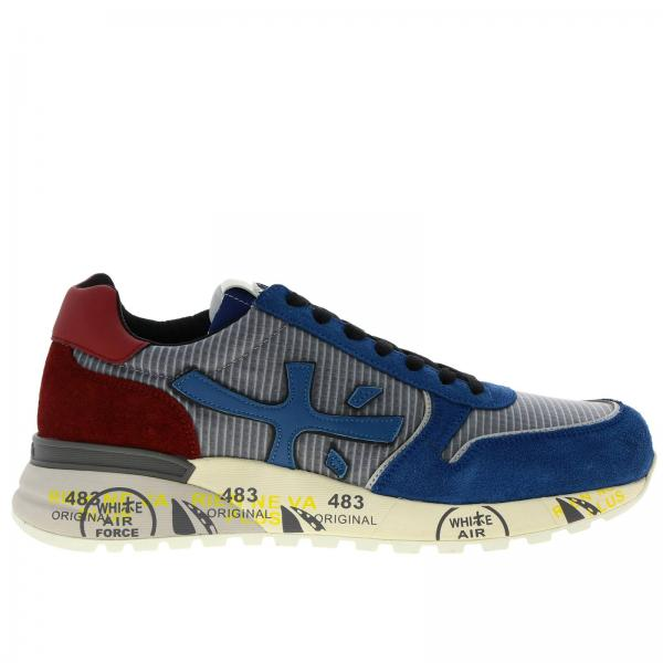 Mick Premiata sneakers in nylon and suede with all-over sole multi-print
