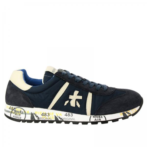 Lucy Premiata sneakers in nylon and suede leather with rubber sole