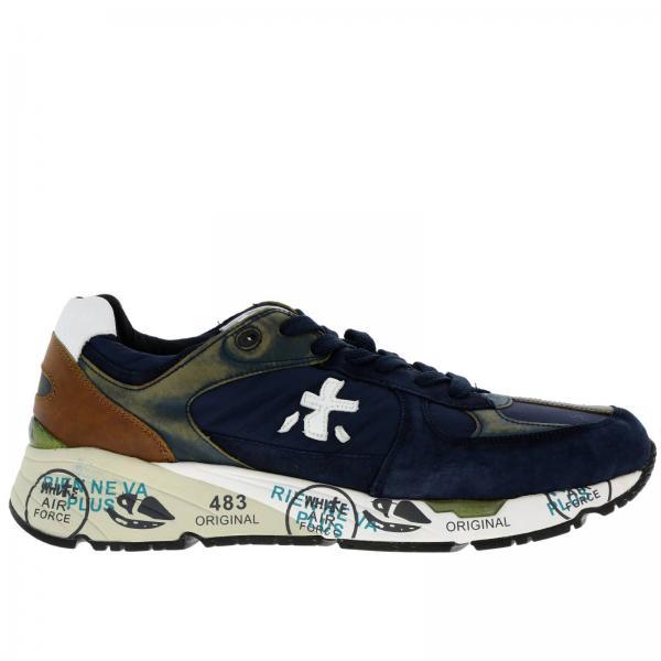 estetica di lusso scarpe originali outlet Sneakers mase premiata in camoscio nylon e pelle invecchiata