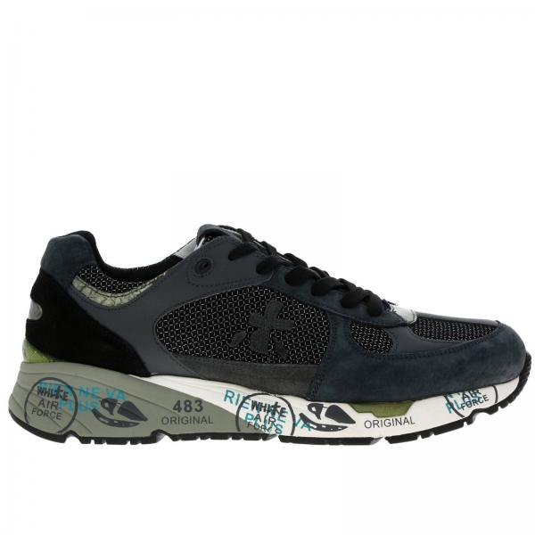 Mase Premiata sneakers in suede and lurex mesh