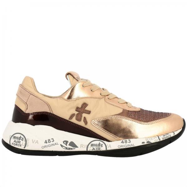 Sneakers Scarlett Premiata in nylon tessuto lurex e pelle laminata